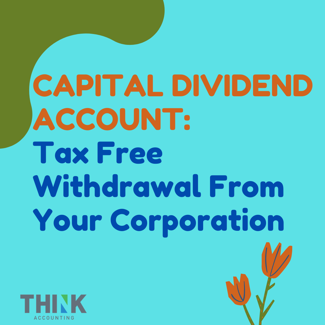 Capital Dividend Account CRA