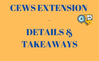 CEWS Extension – Details and Takeaways