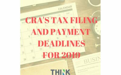 CRA's Tax Filing And Payment Deadlines For 2019